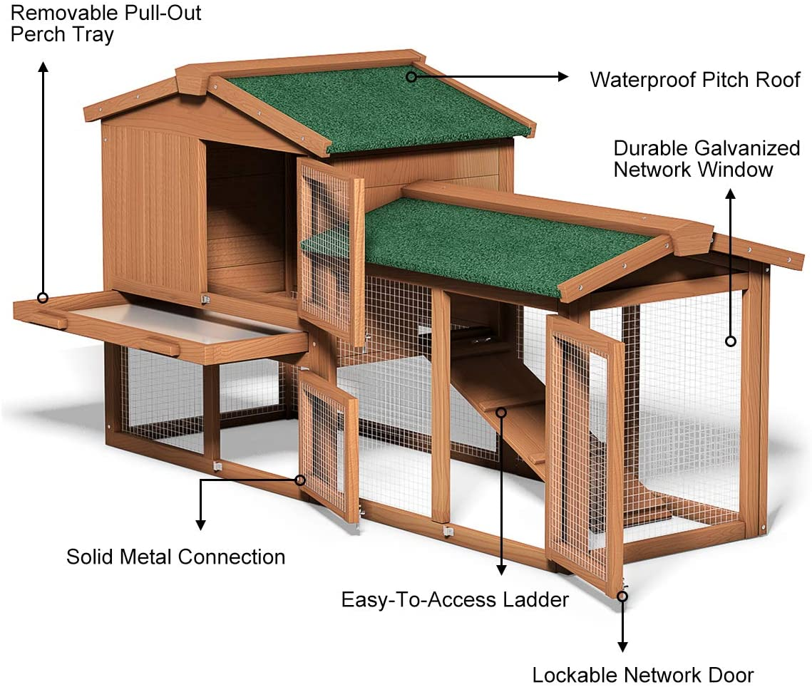 Tangkula Large Chicken Coop review