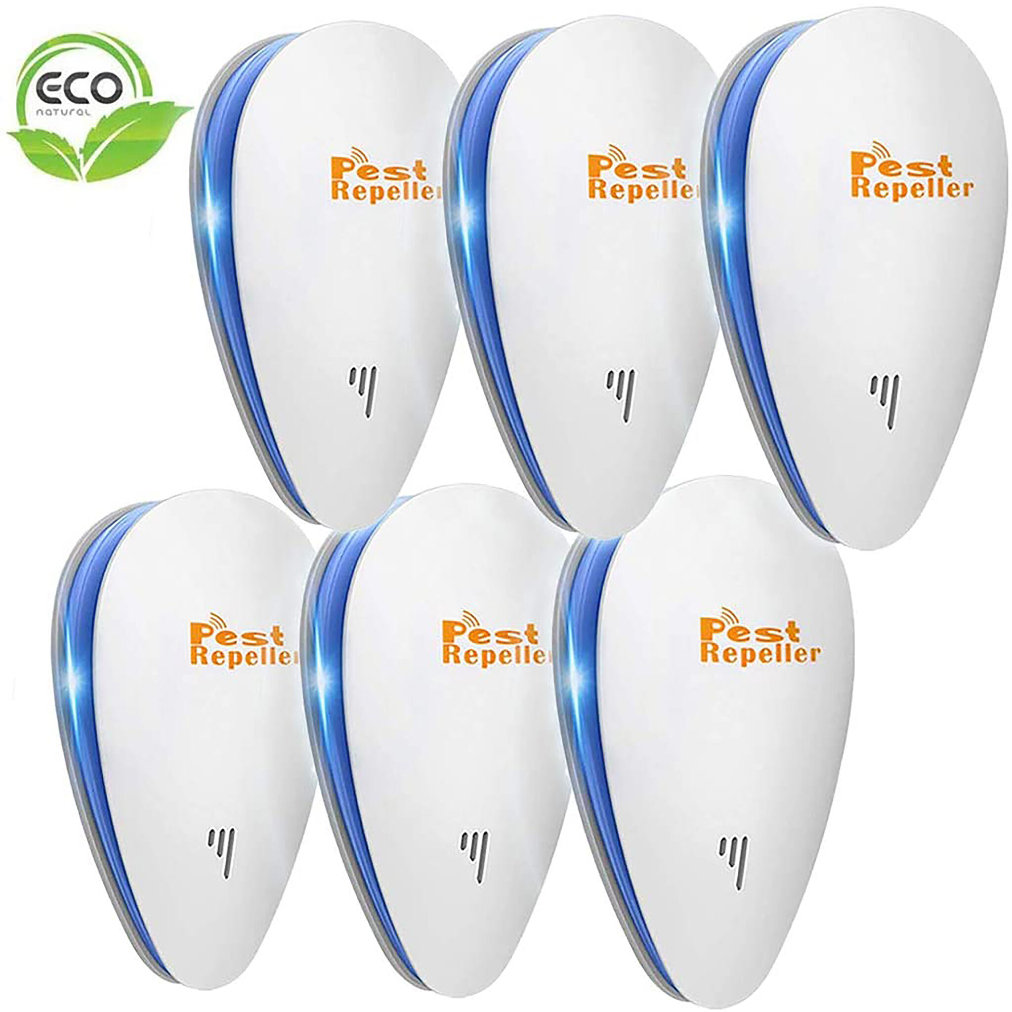 Pest Repeller 6-pack Upgraded Indoor Plugs
